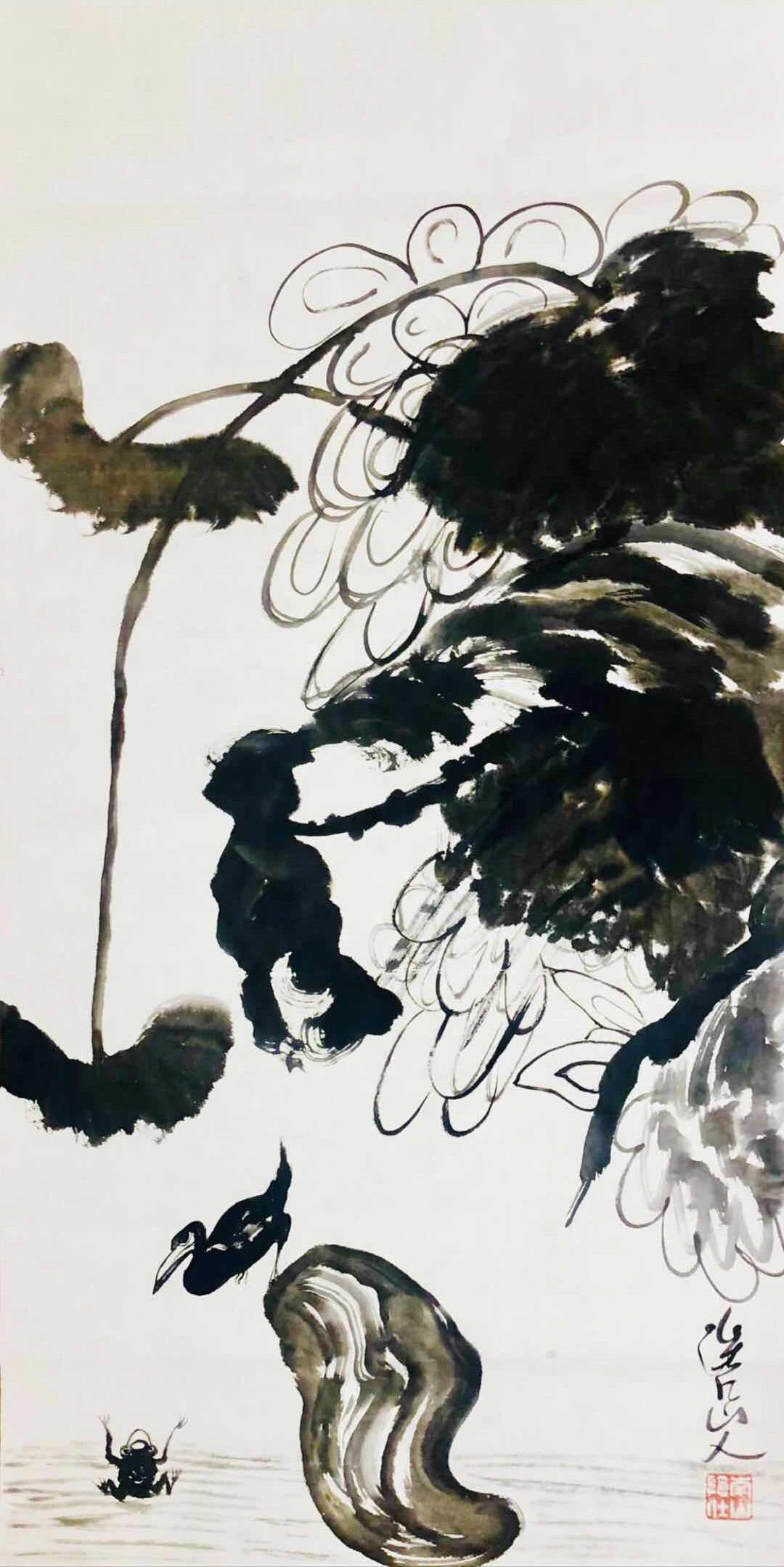 潘基文造访中国书画家朱祖国进行文化交流