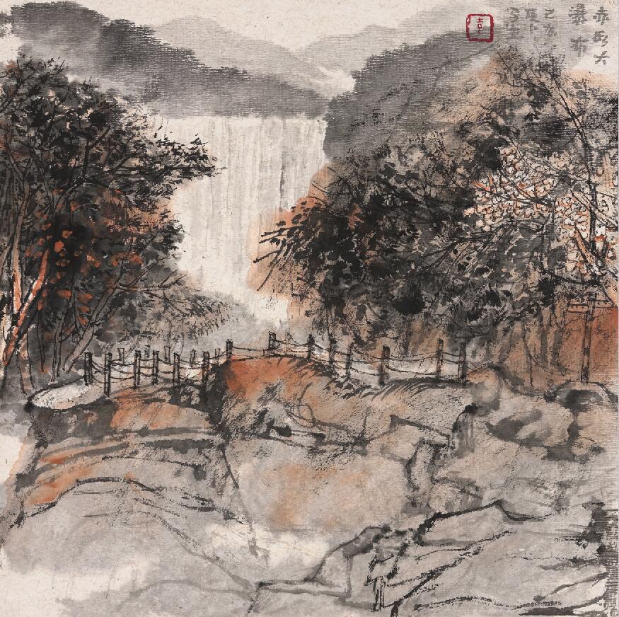 岩彩画的视觉语境
